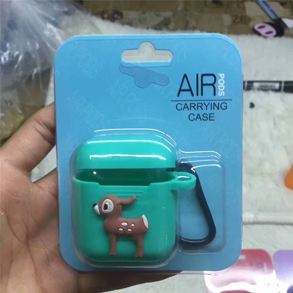 Comic cartoon Hero Non-slip Silicone Case For Apple AirPods Case Skin Cover for AirPods True i10 tws Wireless Earphone box accessories