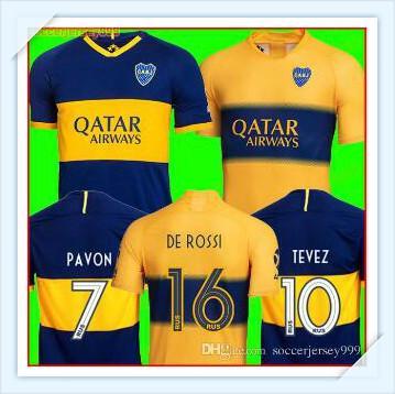 New 2019 Boca Juniors soccer Jersey Home Away 19 20 Boca Juniors GAGO OSVALDO CARLITOS PEREZ DE ROSSI TEVEZ PAVON JRS sports football shirt