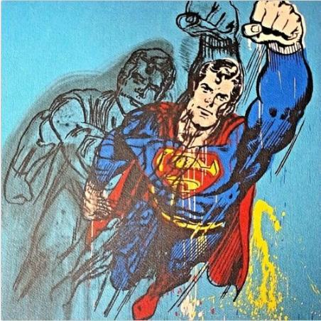 Andy Warhol, Superman, II.260 1981 Handpainted & HD Print Abstract Portrait Art oil painting,Wall Art Home Decor On High Quality Canvas p414