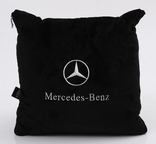 1pcs car seat pillow backrest quilt comfort Mercedes-benz cushion LOGO