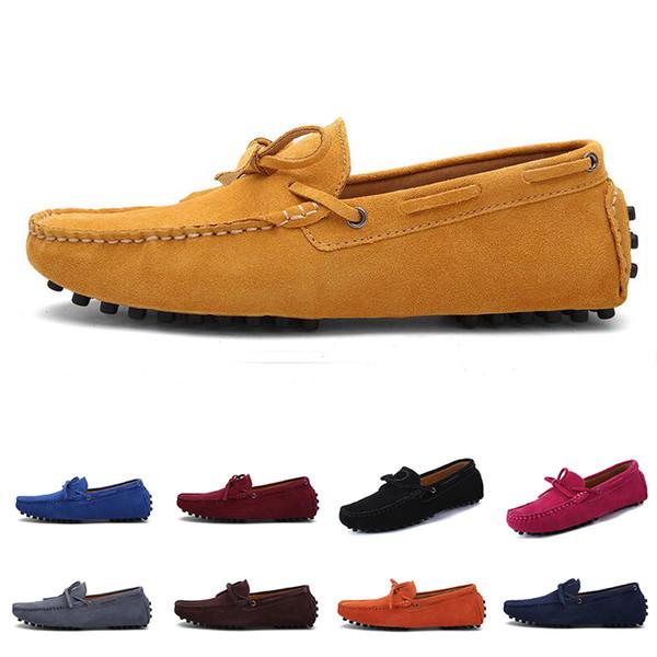 2020 toptan erkekler rahat ayakkabılar üçlü siyah beyaz kahverengi şarap kırmızı kestane mens açık hava koşu yürüyüş renk # 10 sneakers espadrilles