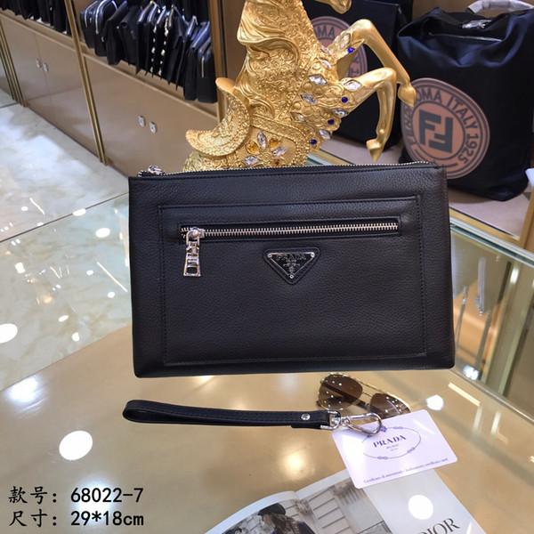 Дизайнер сумка 2019 новый сдержанной и стабильная мужская сумка на молнии мульти-карман дизайн одежды бизнес сцепления мешок размер 29 * 19 * 3см