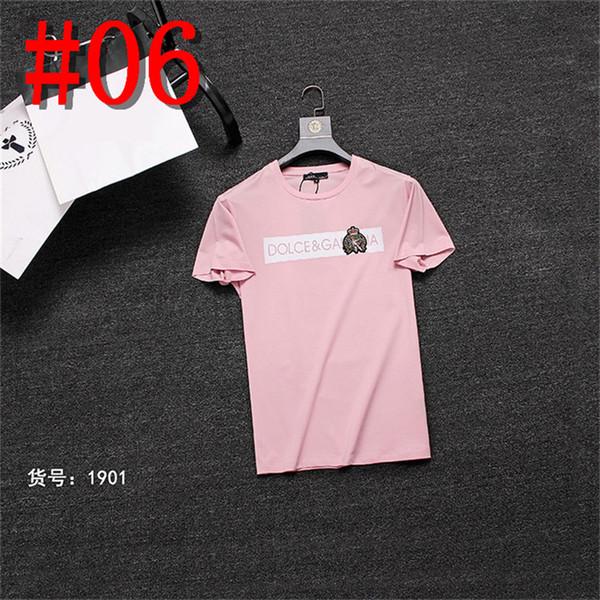 2018 Verão Designer de T Camisas Para Homens Tops Carta Bordado T Shirt Dos Homens de Roupas de Marca de Manga Curta Camiseta Tops M-3XL