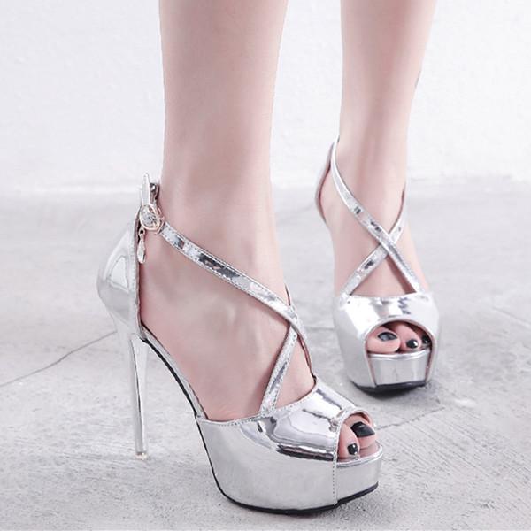 Großhandel Sparkly Silber Peep Toe Pumps Braut Hochzeit Schuhe Weiße Luxus Designer Schuhe Größe 34 Bis 39 Von Tradingbear, $29.58 Auf De.Dhgate.Com |