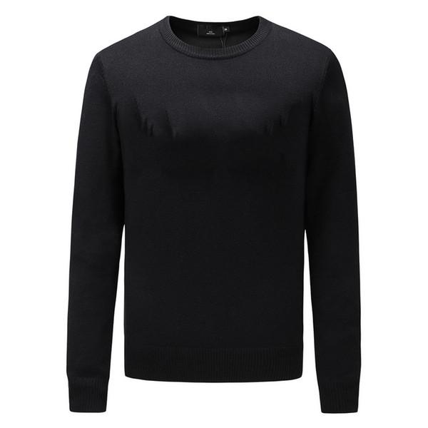 top popular Fashion Designer Sweater Men Brand Pullover Hoodie Long Sleeve Luxury Sweatshirt Brand Letter Embroidery Knitwear Winter Mens Clothing 2019