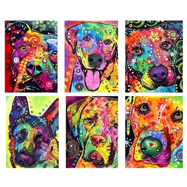 DIY 5D Dog Series Diamond Painting Embroidery Cross Stitch Frame Picture Crafts