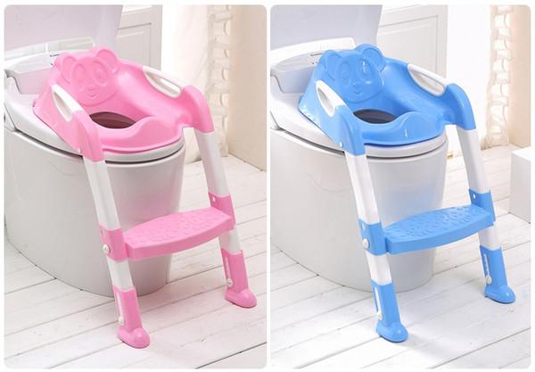 Vente chaude Sécurité Bébé Étape Échelle Potty Chair Enfants Siège De Toilette Pliable formateur Infant Anti-Slip Sécurité Potty Seat