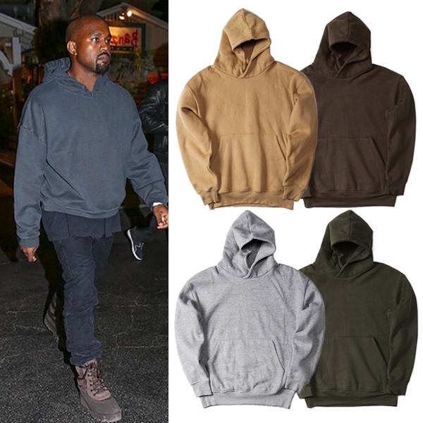 d0199f7b Men's Pullover Fleece Hoodie Kanye West Hip Hop Clothes Streetwear Plain  Hoodies Men Women Autumn Winter Hooded Sweatshirt Jacket Coat