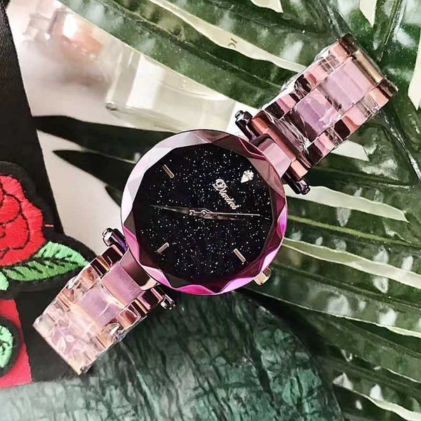 Dropshipping New Women's Watches Atmosphere Female Watch Fashion Starry Face Steel Strap Ladies Quartz Watch relojes para mujer