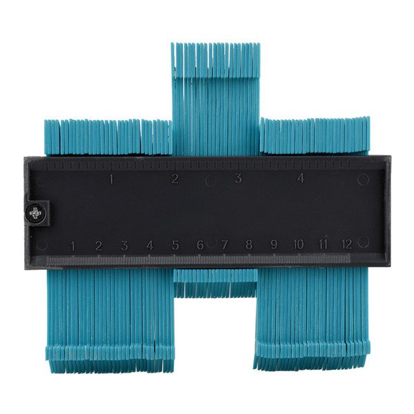 top popular 5inch Contour Profile Gauge Tiling Laminate Tiles Edge Shaping Wood Measure Ruler ABS Contour Gauge Duplicator support Wholesale 2021