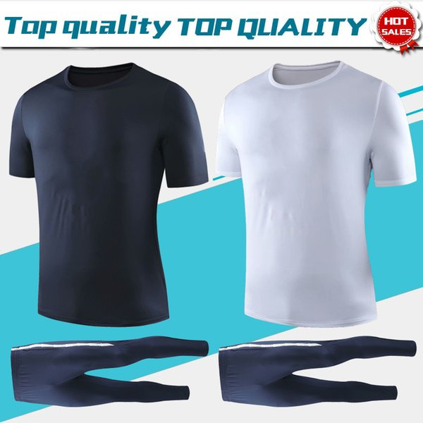 T-Shirt Anzug 2019 zwei Sterne mit kurzen Ärmeln Trikots 19/20 Sportswear Herren T-Shirt Fußball Uniformen schwarz weiß Fußball Hemden Im Angebot