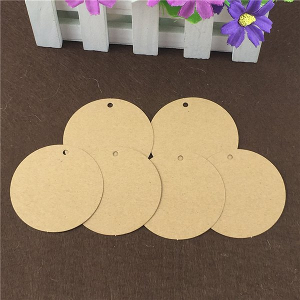 Round Series Collection Hang Tag Multiple Sizes Brown kraft Paper Cardboard Blank Luggage Mark Labels Tags DIY Custom 1000Pcs/Lot