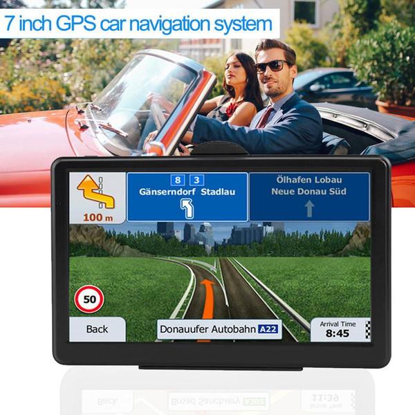 Sistema de navegación GPS GPS para automóvil con pantalla táctil de 7 pulgadas para camioneta de navegación RAM256M + ROM8GB FM AV-IN SAT NAV con Map Sun Visor