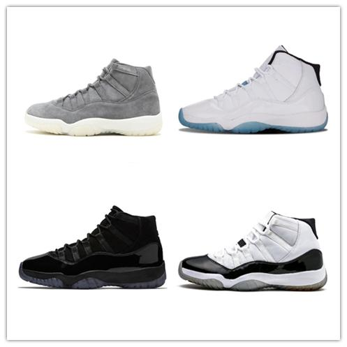 NIKE Air Jordan 11 Retro 2018 Men 11s XI Basketball Shoes Jam True Blue Platinum Tint Gym Red Bred PRM Barons Concord 45 Sneaker Gown Prom midNight White 11 트레이너
