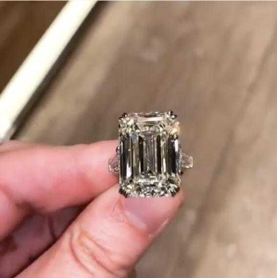 Hot Sale Real 925 Sterling Silver gemstone Wedding Rings For Women Big 4ct Emerald cut Simulated diamond Ring Finger Jewelry