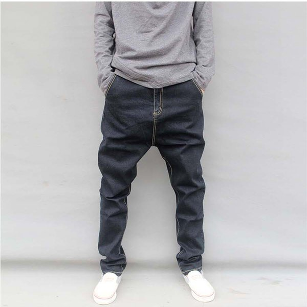 Mode Jeans Marque Casual desserrées Joggers Pantalons Jeans Hip Hop Harem Black Jeans Baggy Pantalon fuselé Plus Size M-6XL