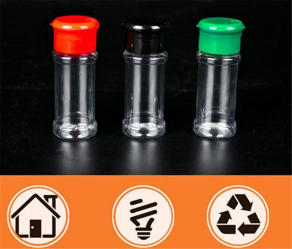 Plastica Spice Sale Pepe Shaker, aromi e spezie Jar Can Barbecue barbecue Condimento aceto Bottiglia Cucina Cruet 10.5 * 4 centimetri