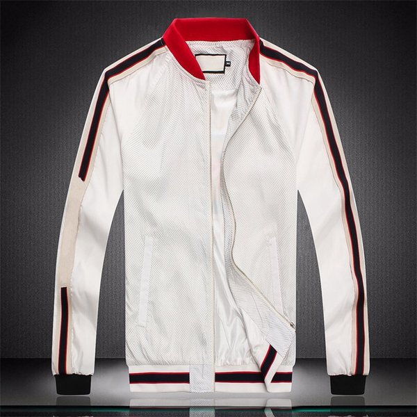 Горячая продажа новый досуг спорт Красный стоячий воротник мужские дизайнерские костюмы белый черный Royalblue письмо печать длина рукава мужчины спортивный костюм