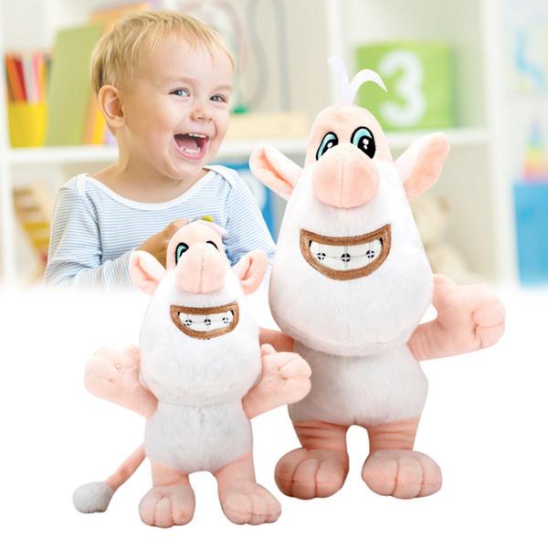 005bbb792d Cartoon Booba Buba Bianco Maiale Cooper Morbido Peluche Giocattoli Bambola  di pezza Bambole Regalo per bambini