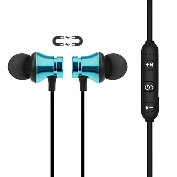 QiChen XT11 Mic ile Spor Kulaklık Manyetik Kablosuz Stereo Kulaklık Kulakiçi Bas Kulaklık için iPX XsMax 8 P Samsung Note8 S8