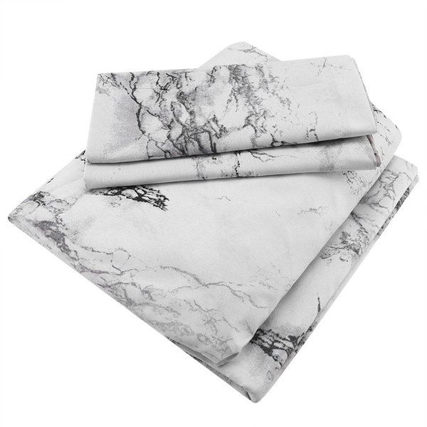 New Comforter Stone Patern Bed Mattress Fabric Sheet Set of Four for Students king size bedding set New