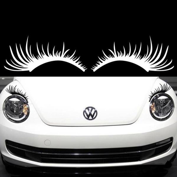 faros de los coches pestañas de la moda sexy faros pegatinas decorativas luces cejas pegatinas Car Styling pegatinas universales de la personalidad