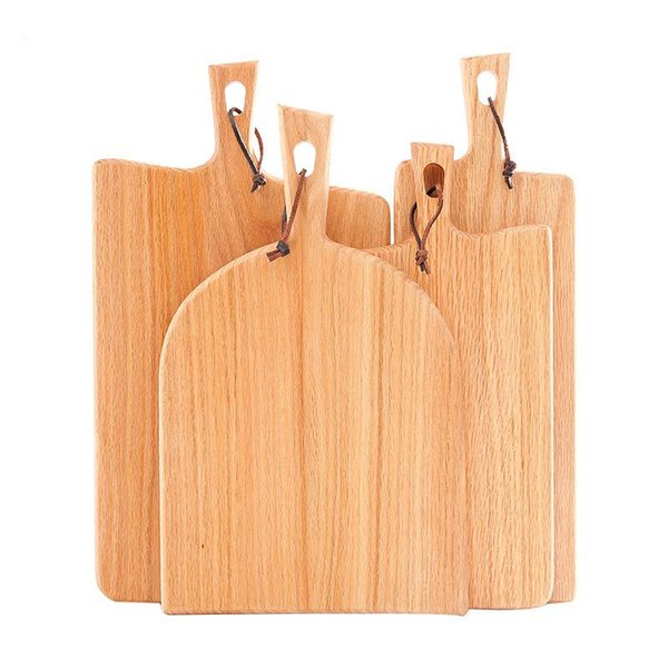 Household Kitchen Chopping Block Wood Home Cutting Board Cake Sushi Plate Serving Trays Bread Fruit Plate Sushi Tray Steak Tray BC BH1611