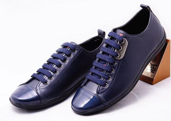 Newest Men Sneakers Men Handmade Brand Casual Luxury Fashion Designer Man Leather Walking Shoes size:40-47