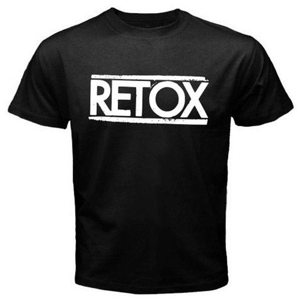 Tendência Retox American manga curta Zomer O-Neck T Shirts Para Homens