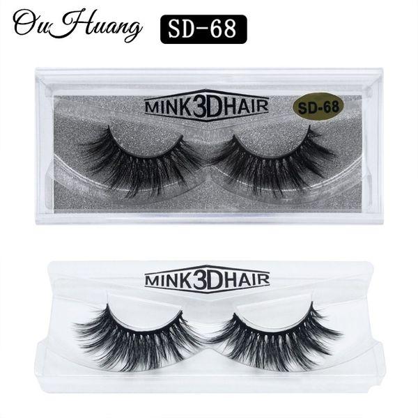 1 Pairs 3D Mink Eyelashes HandMade False Eyelashes Natural Lightweight Lashes Full Strip Fake False Eyes Lashes Extension Tools