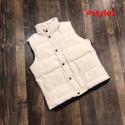 top popular 2019 Canada Brand Mens Vests Canada imported goose down big goose down jacket male short section Slim vest vest women thick warm couple 2019