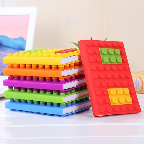 Bloques de rompecabezas Bloque de construcción para niños Cuaderno Forma Bloques de silicona de escritura suave A6 Cuaderno de estudiante Suministros de escritura