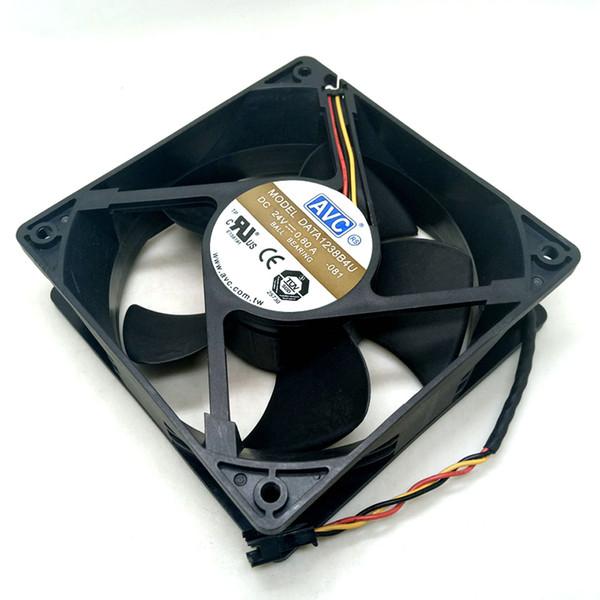 AVC Nuevo 12CM DATA1238B4U 24V 0.80A doble rodamiento de bolas ventilador de refrigeración 12038 3 líneas 120 * 120 * 38 mm