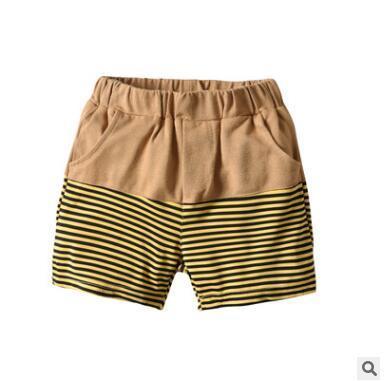 Pantalones cortos de rayas para niños 2019 Verano para niños Pantalones cortos de algodón para hombres Pantalones cortos de marca Panties Pantalones cortos de playa Pantalones deportivos Ropa de bebé