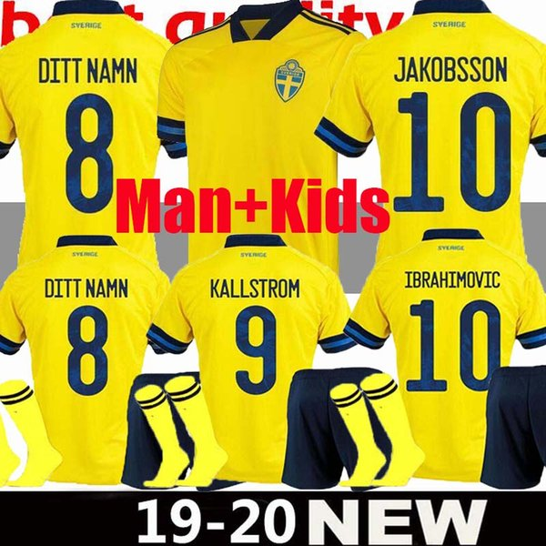 Sweden World Cup 2020.2019 Sweden 2019 2020 National Soccer Jerseys World Cup Ibrahimovic Kallstrom Forsberg Jersey Football Soccer Shirt Camisetas From Crown Seller