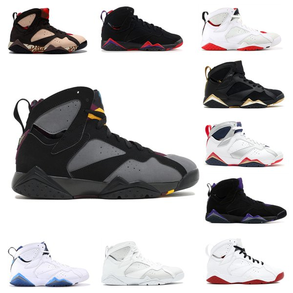 hot sale online 50% price separation shoes 7s Classic Mens Trainers 7 Basketball Shoes Pure Money Hare Bunny Raptor  French Blue Bordeaux Hot Lava Verde Black Red White Blue Sneakers Shoes For  ...