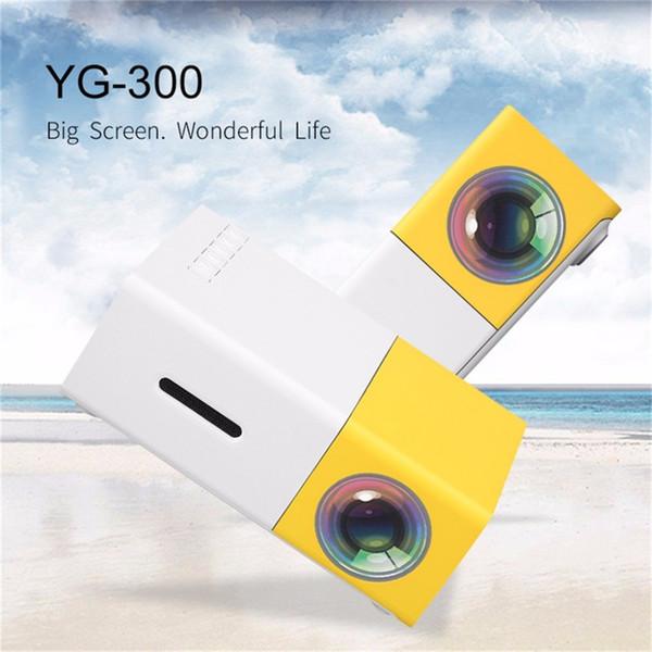 Original YG300 LED Tragbarer Projektor 500LM 3,5 mm Audio 320x240 Pixel HDMI USB Mini YG-300 Projektor Heim Media Player Filmprojektoren