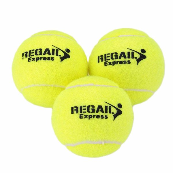 LEIJIAER 2017 Sıcak Spor Esnekliği Vanilya Yeşil 1 Adet Tenis Topları Eğitim Yarışması Için Kauçuk Yün