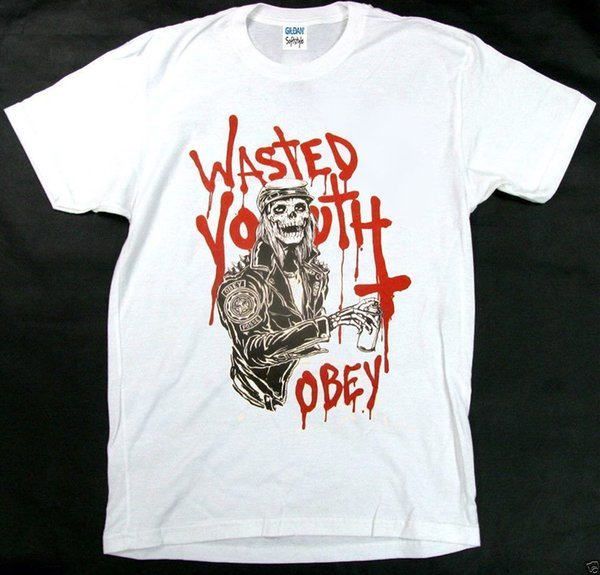 Wasted Youth Obey T-Shirt Sehr seltener Punk, Rock @ USA Größe S-3XL HOT RARE ..