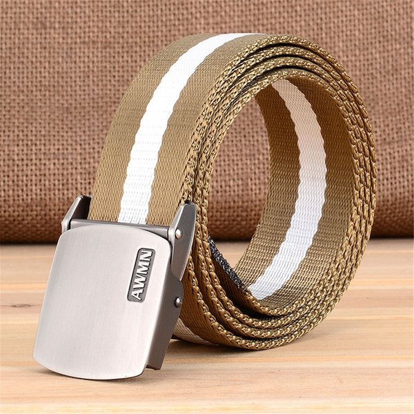 Harajuku Outdoor Adjustable Nylon Belt Men Army Style Belt Designers Automatic Buckle Survival Waist Tactical Gear Tactical