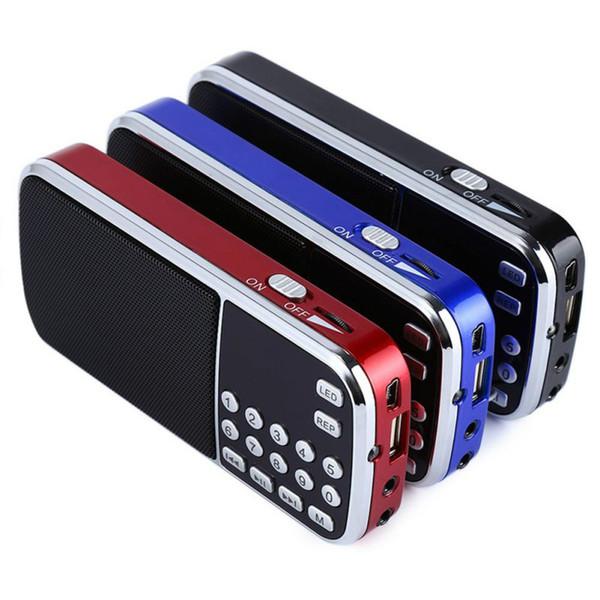 Mini Radio Speaker lettore musicale con TF card USB AUX ingresso audio Casse L-088 lettore mp3 esterno portatile FM stereo digitale