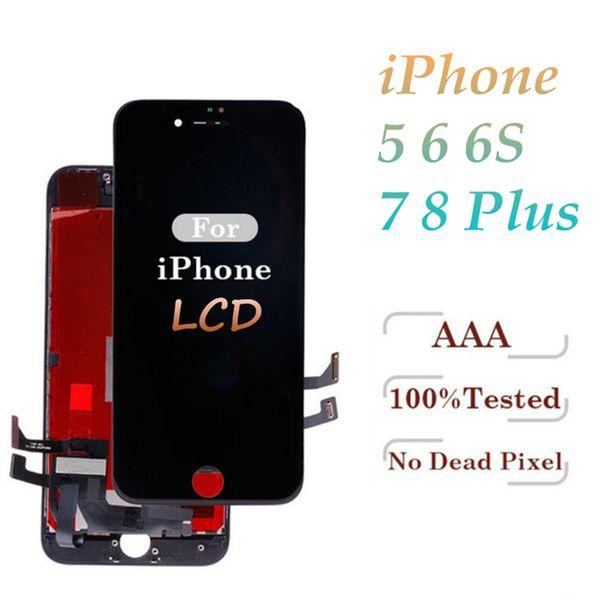 Alto brilho grau a +++ para iphone 5s 6 6 s 7 7 plus 8 8 plus display lcd assembléia digitador da tela de toque livre dhl