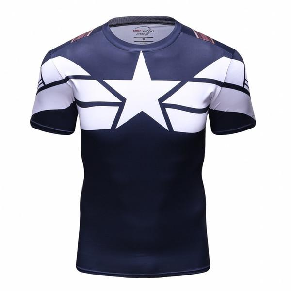 Superhero 3d Printing Men Civil War T Compression T Shirts Marvel Avengers Costume Comics American Captain T Tops For Male