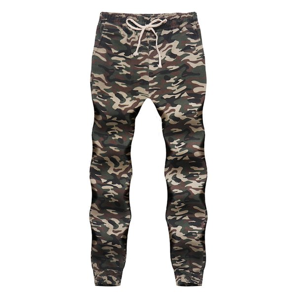 men's fashion 2019 sweatpants loose sweatpants hip hop trousers jogger casual streetwear Tactical camouflage pants Y