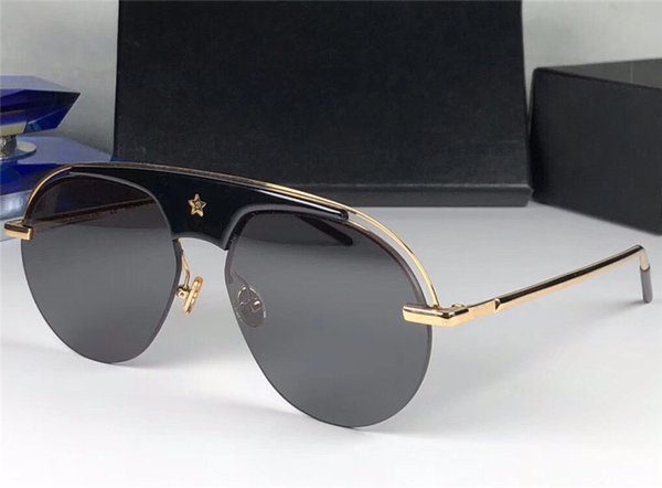 a6a9232a4a New fashion pop designer sunglasses EVOLUTION pilot half frame with stars  sign UV lens top quality steampunk outdoor style