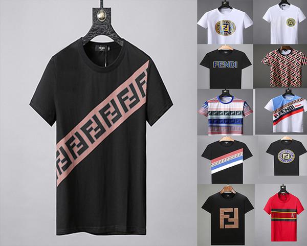 Causa Diseñador Marca Camisetas para hombre Moda Verano Europa Carta clásica Ojo geométrico Patchwork Azul de rayas Camiseta casual Camiseta Top