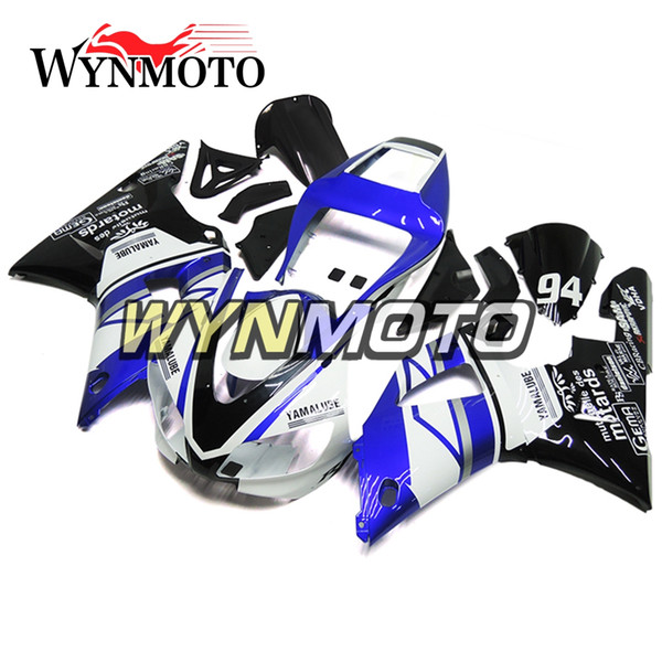 Body Work + Gifts For Yamaha YZF1000 R1 1998 1999 Complete Bike Body Frames R1 98 99 White Blue Sportbike Cowlings Hulls