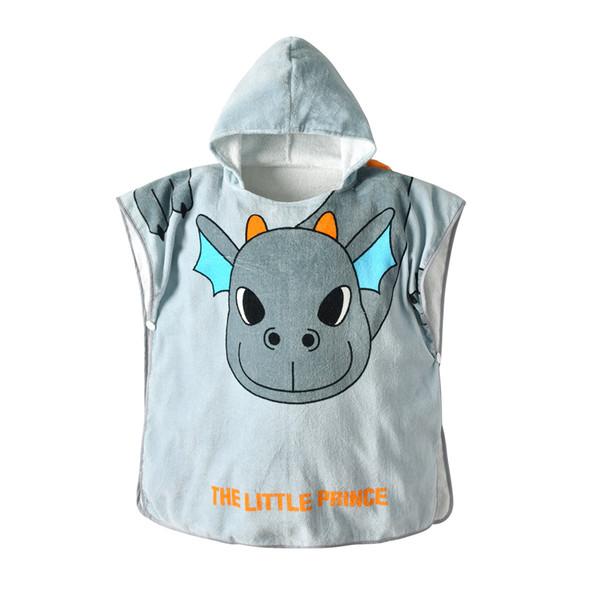 fbfef6d88 Zhen pin New Children's Bathrobe in 2019 Baby Grey Dinosaur All-cotton Cap  Cloak Cloak