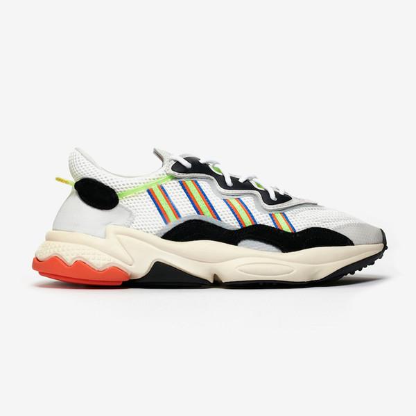 2019 Fierté 3M réfléchissant Xeno Ozweego pour Hommes Femmes Chaussures Casual Vert Jaune solaire Halloween Tones de base Chaussures de sport Entraîneur Noir Sport D08