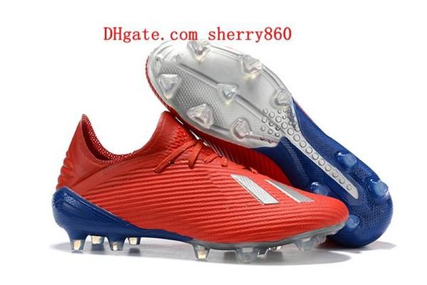 cheap 2018 mens soccer cleats X 19.1 FG Predator soccer shoes football boots outdoor Tacos de futbol high quality blackout